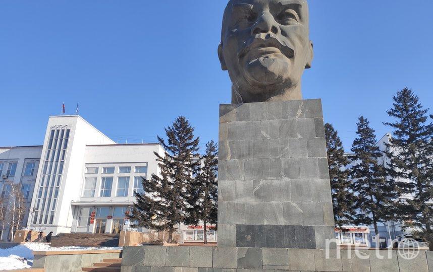 Голова Ильича возвышается на 7,7 метра, и это не считая постамента. Фото Дмитрий Роговицкий