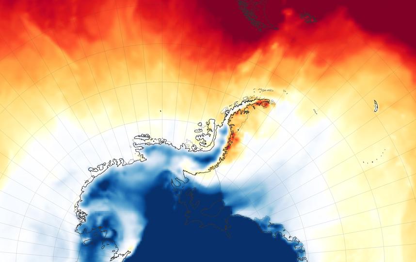 Изображение тепловой волны. Фото NASA