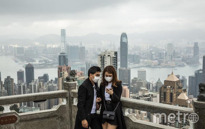 Экономика Гонконга пострадала не только от массовых протестов, но и из=за вспышки коронавируса. Фото AFP
