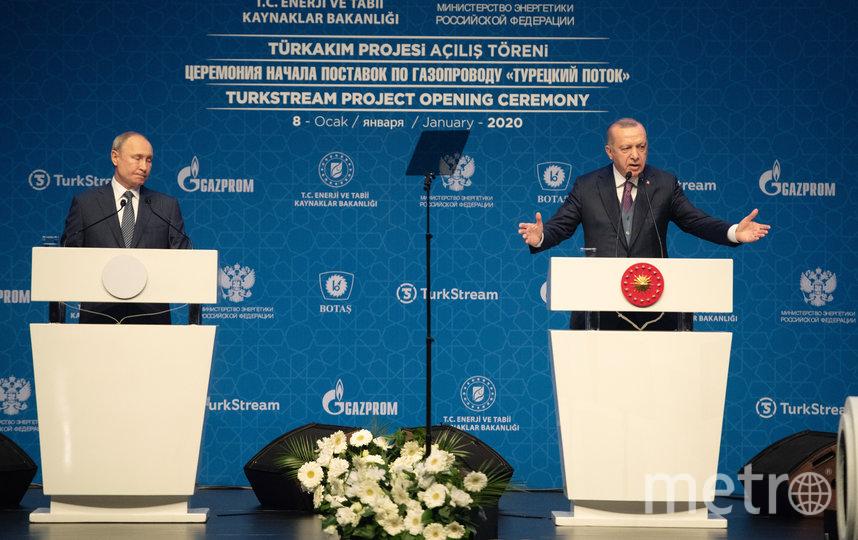 Одна из встреч Путина и Эрдогана. Фото Getty