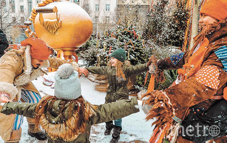 Москвичей ждут масленичные забавы, хороводы и растрясывание чучела Масленицы. Фото Московские сезоны