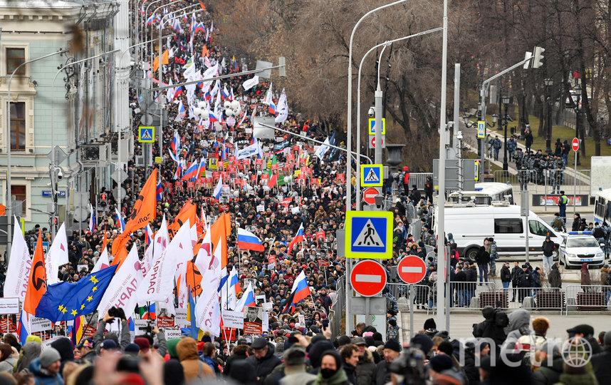 В центре столицы начался мемориальный марш памяти Бориса Немцова. Фото AFP