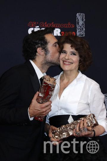 Николя Бедос и Фанни Ардан. Фото AFP