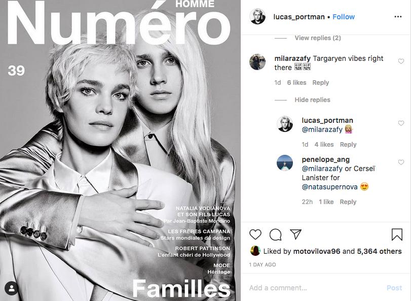 Лукас Портман поделился с подписчиками фотографией. Фото скриншот instagram @lucas_portman