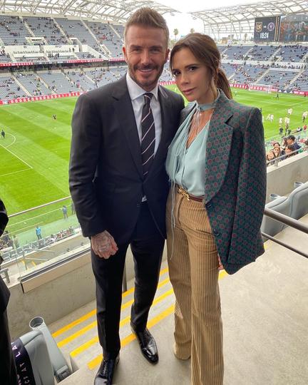 Дэвид с женой Викторией. Фото Instagram @victoriabeckham