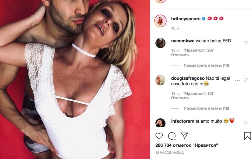 Бритни Спирс устроила пикантную фотосессию с бойфрендом. Фото скриншот www.instagram.com/britneyspears/