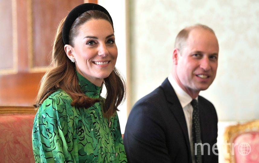 Герцог и герцогиня Кембриджские встретились с президентом страны Майклом Хиггинсом и его супругой. Фото Getty