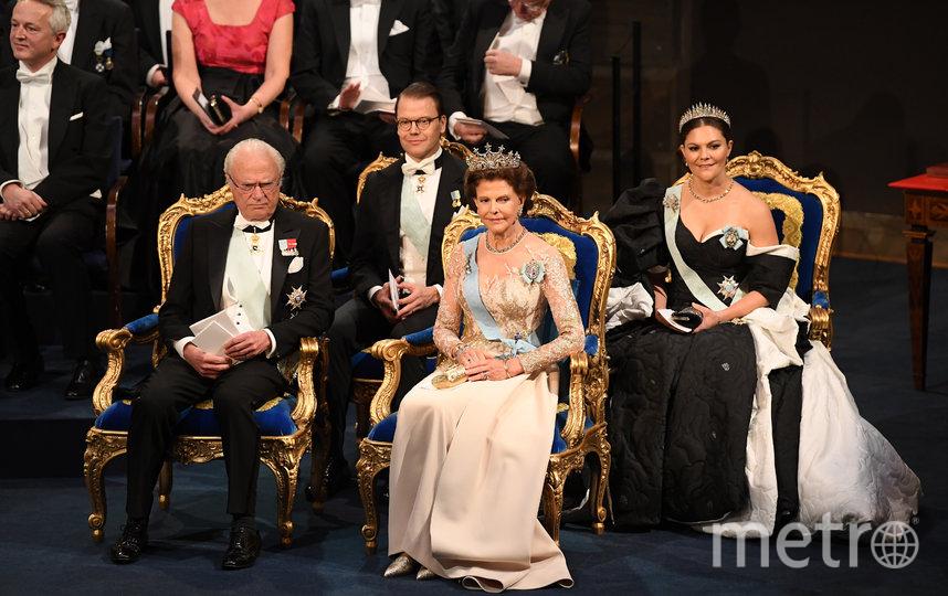 Король Швеции Карл XVI Густав, принц Даниэль, королева Сильвия и принцесса Виктория. Фото Getty