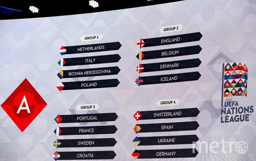 В Амстердаме состоялась жеребьевка группового этапа Лиги Наций. Фото Getty