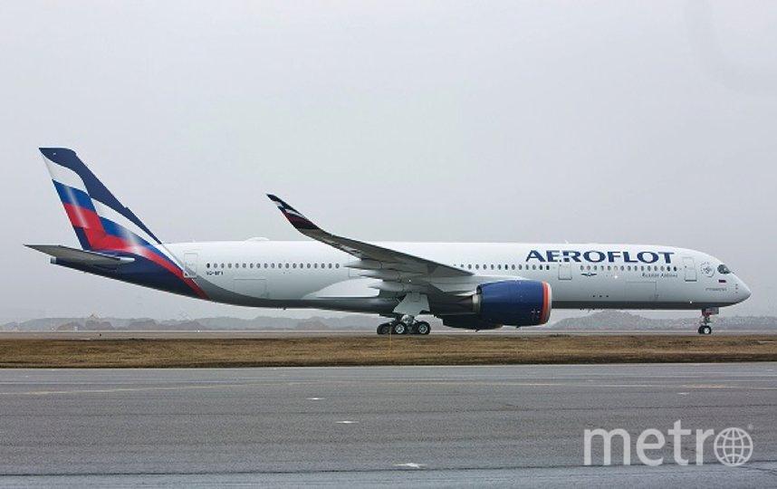 "Airbus A350. Фото https://www.aeroflot.ru/ru-ru/news/61697, ""Metro"""