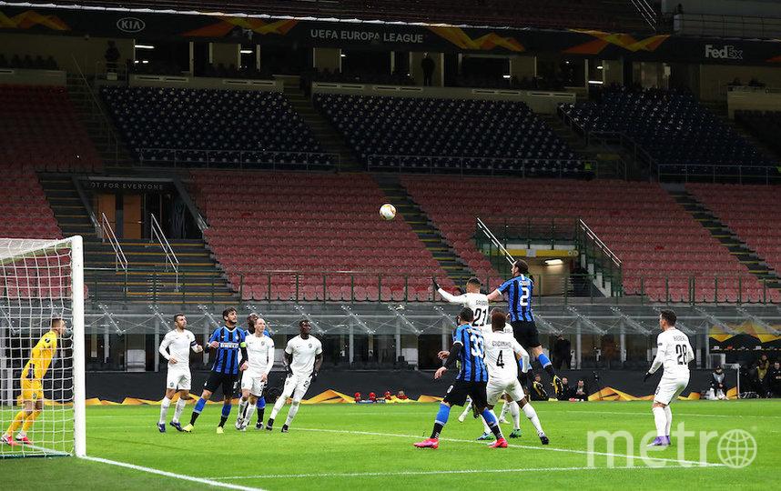Отсутствие поддержки своих болельщиков на трибунах не помешало «Интеру» победить «Лудогорец» (2:1). Фото Getty