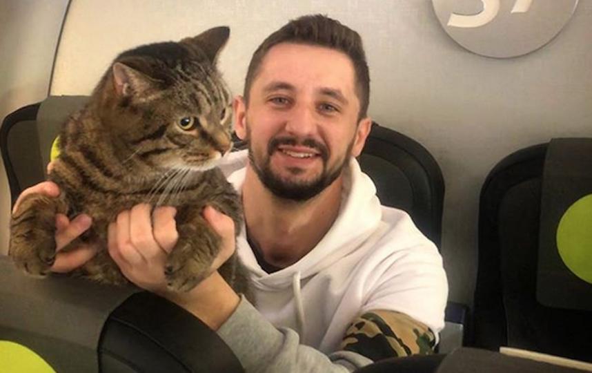 Михаил Галин и кот Виктор. Фото скриншот instagram @mikhail_galin