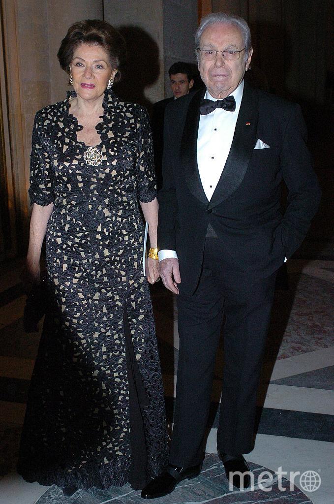 Хавьер Перес де Куэльяр с супругой. Фото Getty