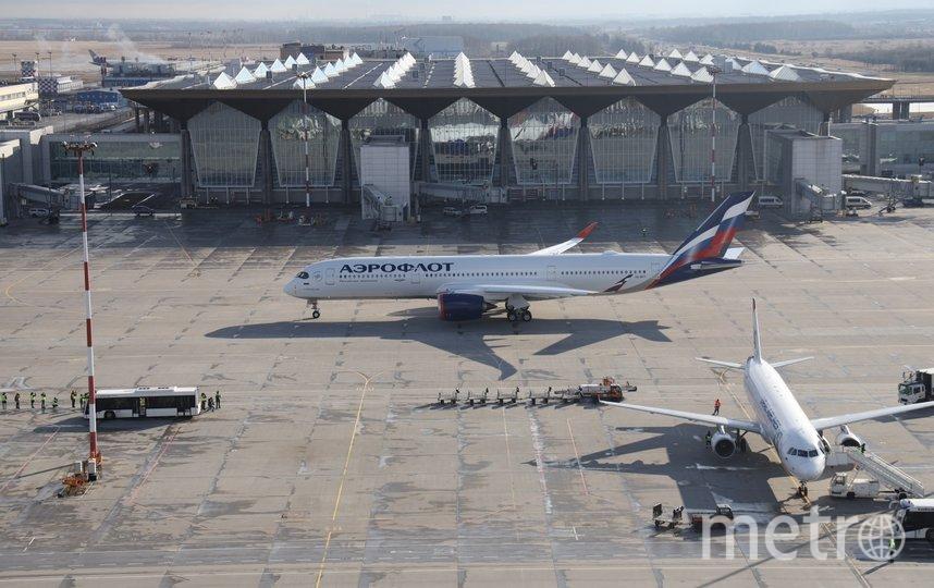 """Первый в России Airbus A350 побывал в Петербурге. Фото Лысцева, """"Metro"""""""
