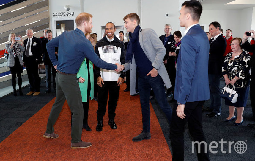 Принц Гарри, Льюис Хэмилтон, Джордж Рассел, Алекс Албон. Фото Getty