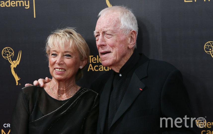 Макс фон Сюдов с женой Катрин Бреле. Фото Getty