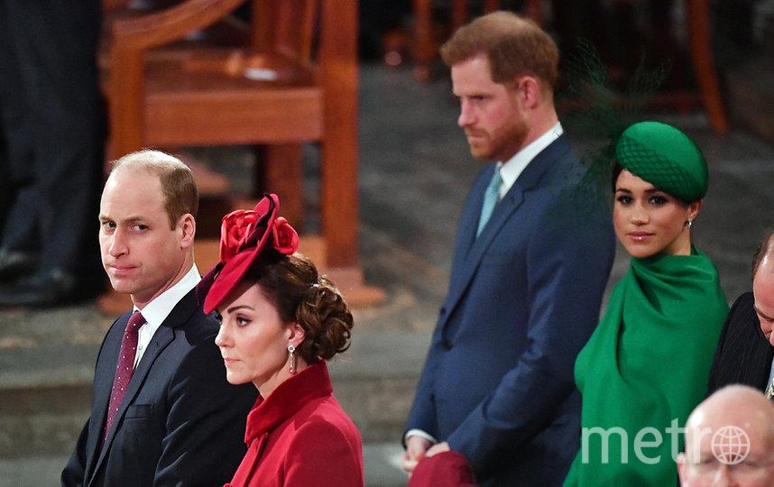 Принц Уильям, Кейт Миддлтон, Меган Маркл и принц Гарри. Фото AFP