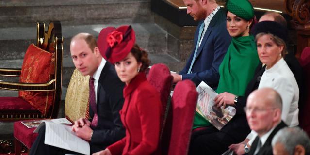 Принц Уильям, Кейт Миддлтон, Меган Маркл и принц Гарри.