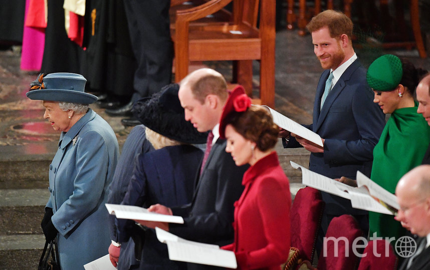 Принц Гарри и Меган Маркл и другие члены королевской семьи. Фото Getty