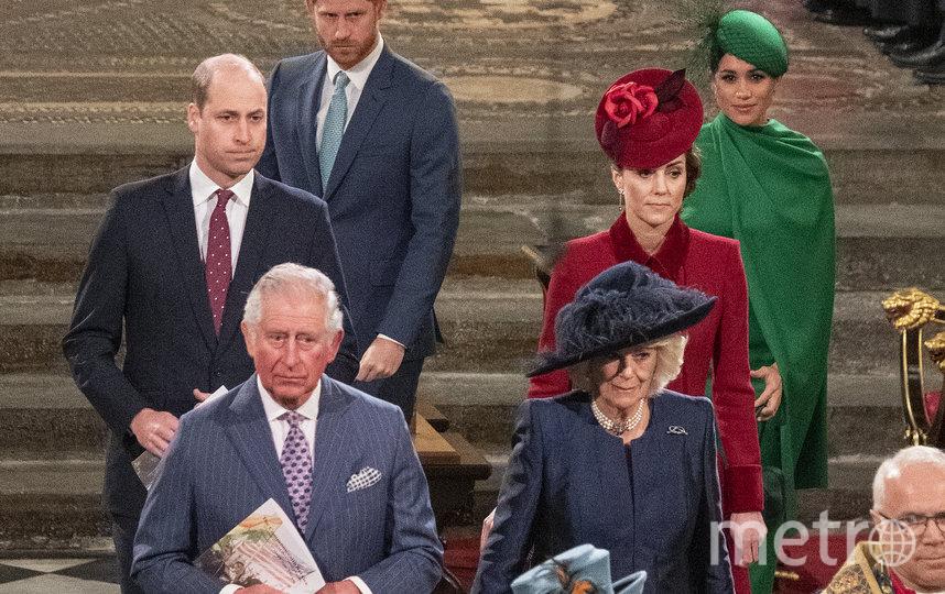 Принц Уильям, Кейт Миддлтон, Принц Гарри и Меган Маркл, принц Чарльз, Камилла Паркер-Боулз. Фото Getty