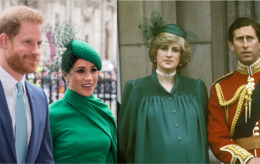 Наряд Меган Маркл напомнил образ принцессы Дианы. Фото Getty