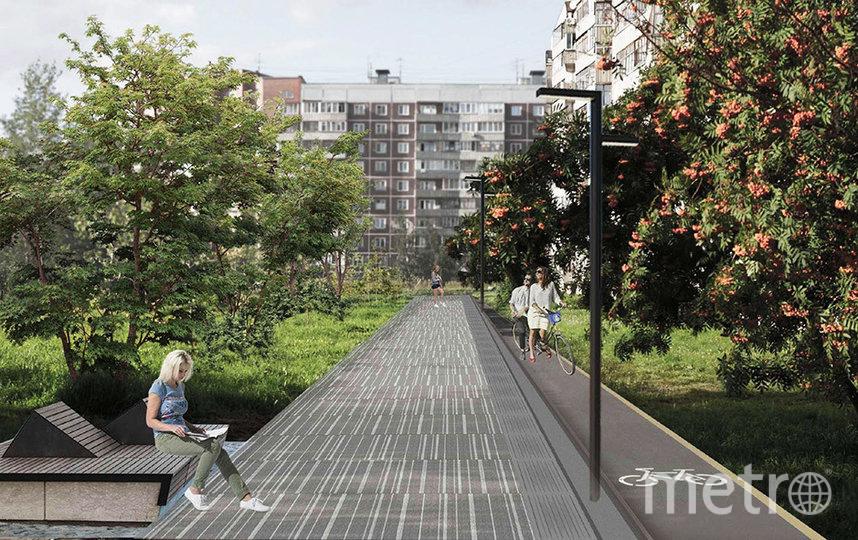 """Территория сквера включена в муниципальную программу """"Формирование современной городской среды""""."""