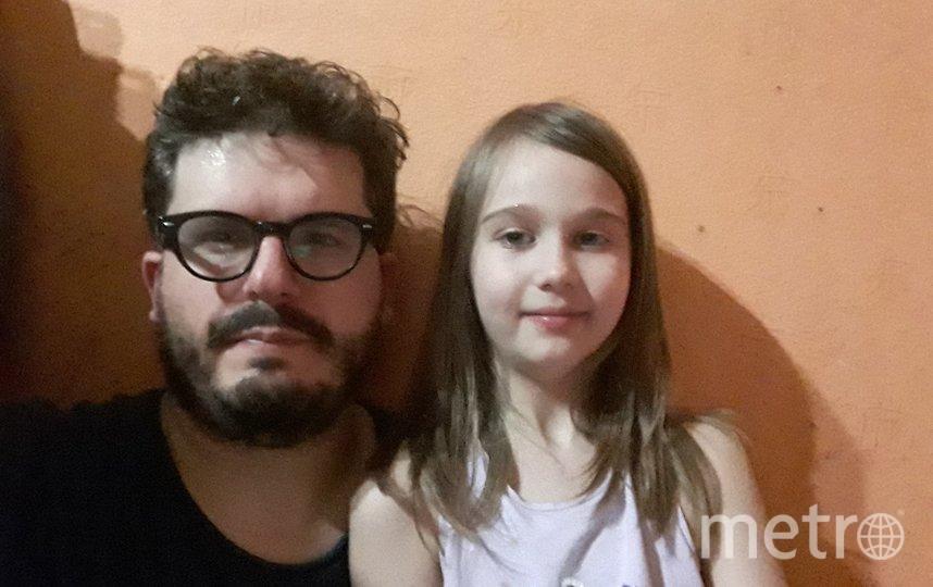 """Специально для Metro Джованни с дочкой Любавой сделали селфи из заточения. Фото  Джованни Савино, """"Metro"""""""
