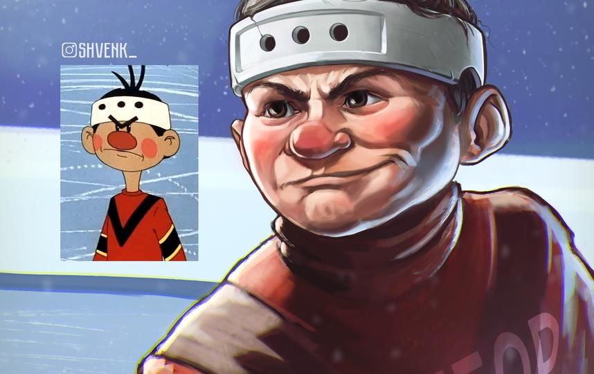 """Хоккеист """"Метеора"""" из мультфильма """"Шайбу! Шайбу!"""". Фото предоставлено Евгением Швенком"""