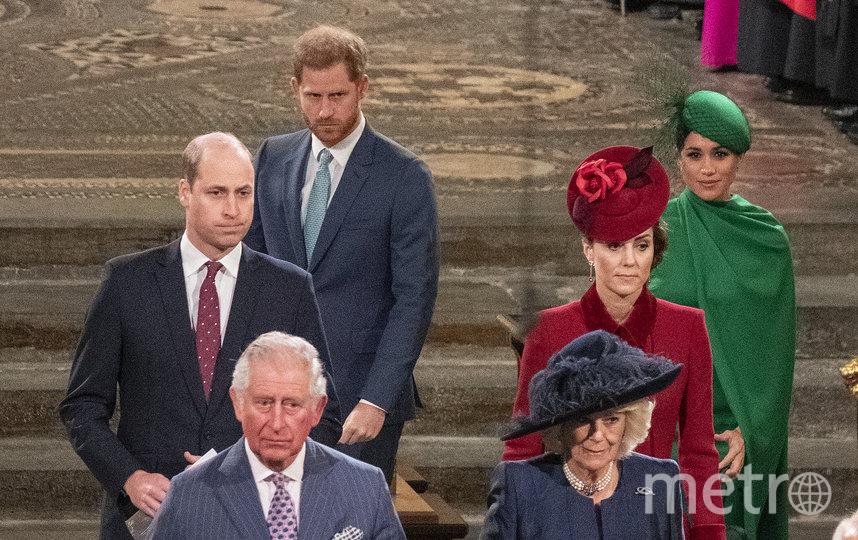 Принц Уильям, Кейт Миддлтон, Меган Маркл и принц Гарри на службе 9 марта. Фото Getty