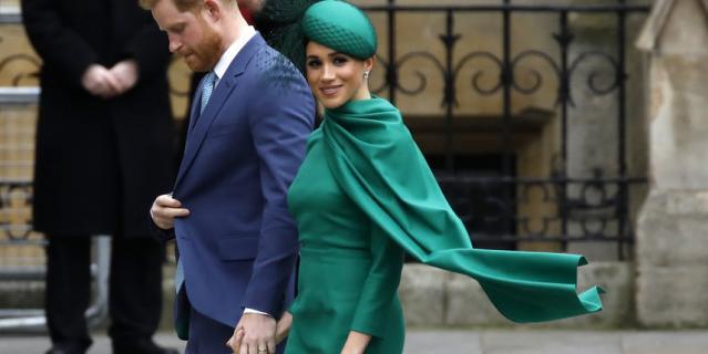 Принц Гарри и Меган Маркл на службе 9 марта.