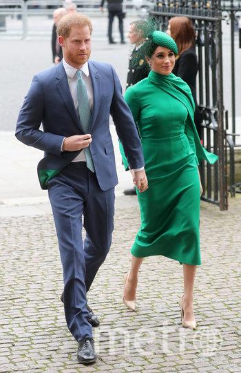 Принц Гарри и Меган Маркл на службе 9 марта. Фото Getty