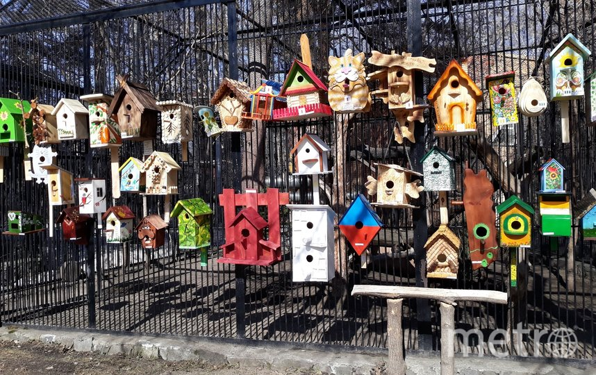По условиям конкурса использовать для изготовления скворечников, синичников и других домиков для птиц можно только натуральные материалы.