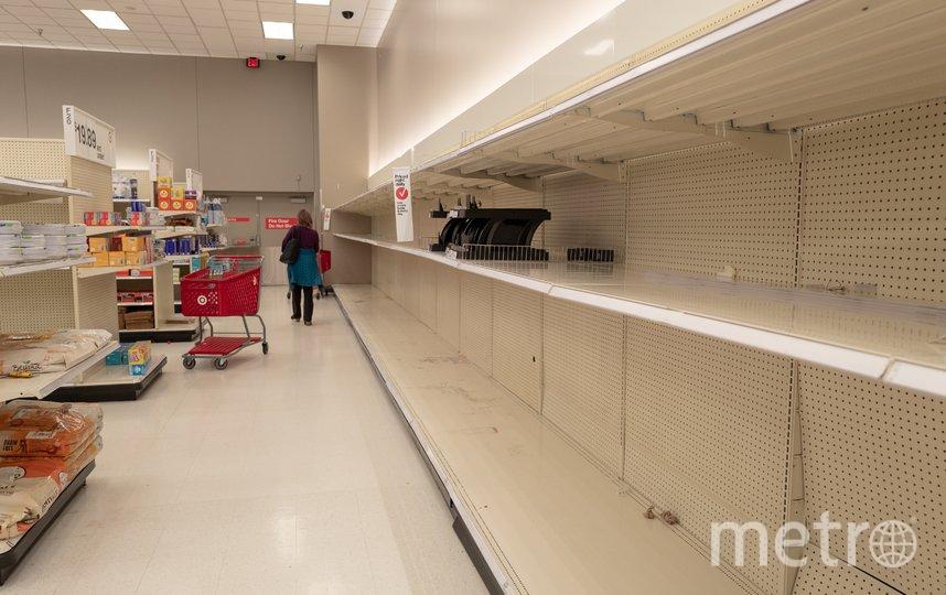 В магазинах Калифорнии полки пустуют. Фото Getty