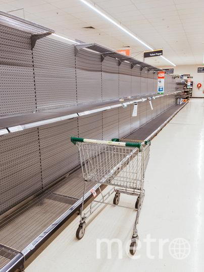 Пустые полки в магазинах Австралии. Фото Getty