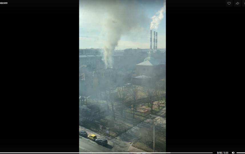 Фото пожара в Покровской больнице. Фото vk.com