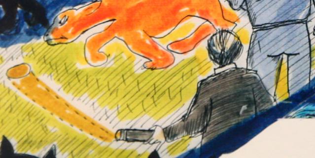 Так Феллини нарисовал самого себя.