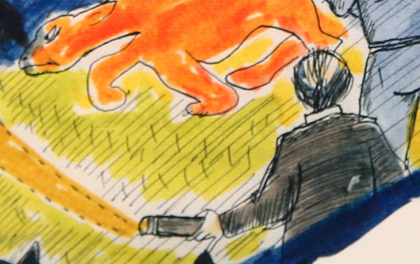 Так Феллини нарисовал самого себя. Фото Василий Кузьмичёнок