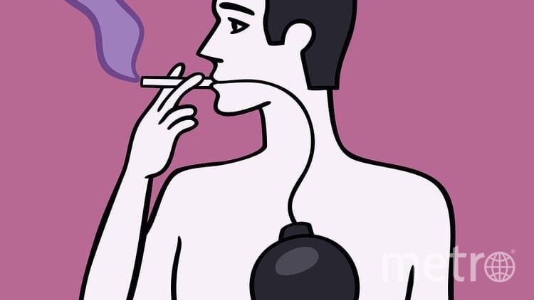 """Курильщикам лучше бросить вредную привычку. Фото https://twitter.com/KulikovUNIATF/status/1239504466744918017, """"Metro"""""""