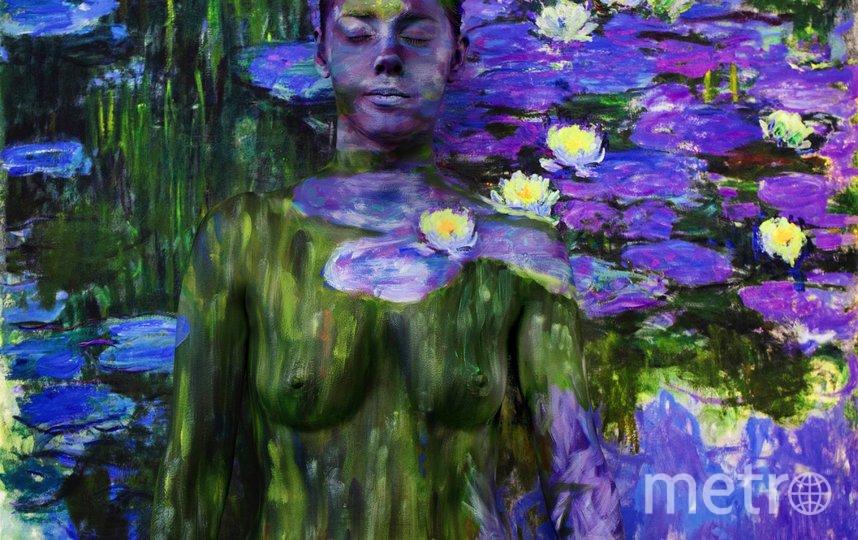 Художница по боди-арту стала частью произведений искусства. Фото предоставлено героиней публикации