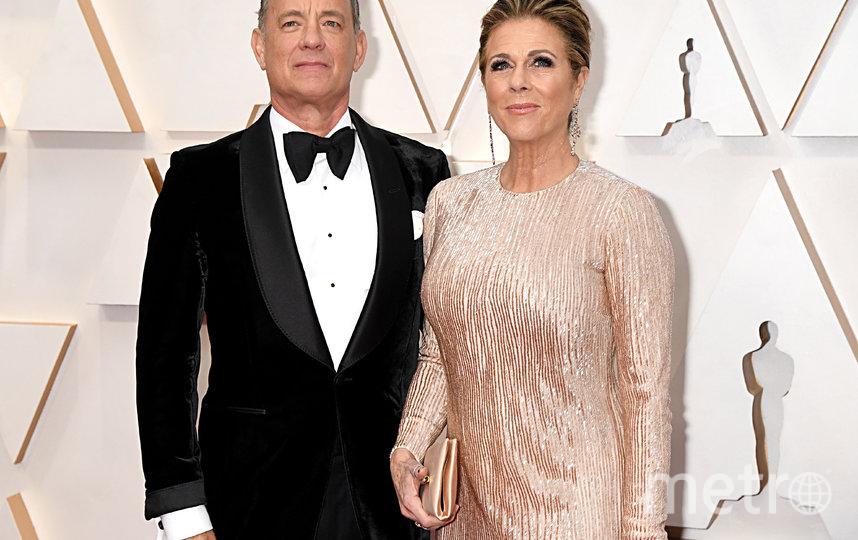 Том Хэнкс с женой. Фото Getty