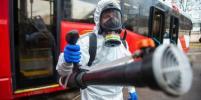 В трамваях Петербурга коронавирус убивают холодным туманом: фото