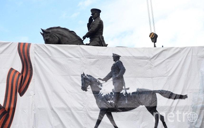 Новый памятник маршалу Жукову на Манежной площади. Фото РИА Новости