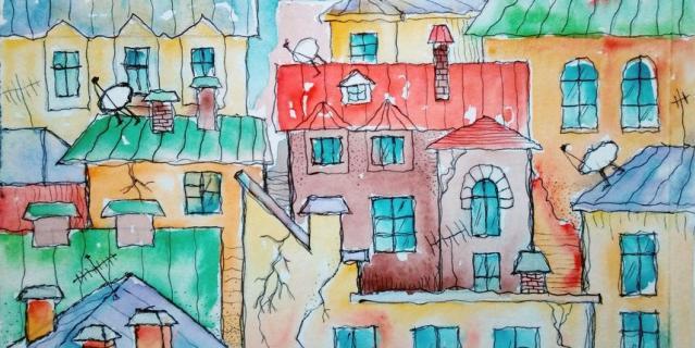 Нарисуйте сказочный город.