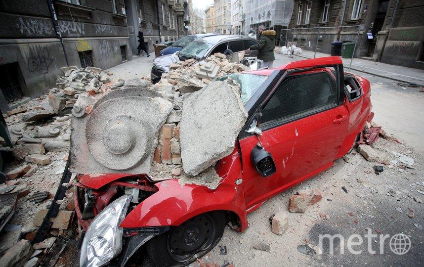 Мощное землетрясение произошло рано утром в воскресенье 22 марта в Загребе. Фото AFP