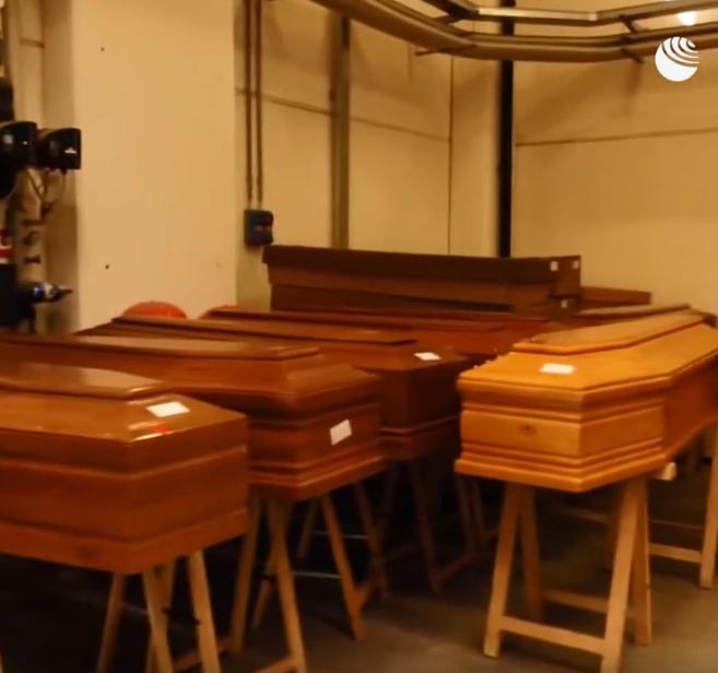 Кадры видео крематория в Италии. Фото Скриншот Youtube