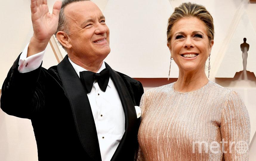 Том Хэнкс с супругой. Фото Getty