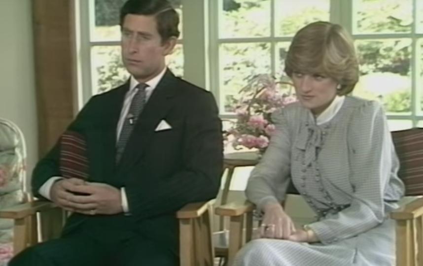 Принцесса Диана и принц Чарльз. Фото Скриншот Youtube