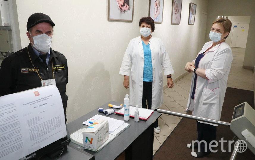 В роддомах введен усиленный режим защиты. Фото Пресс-служба Администрации Петербурга