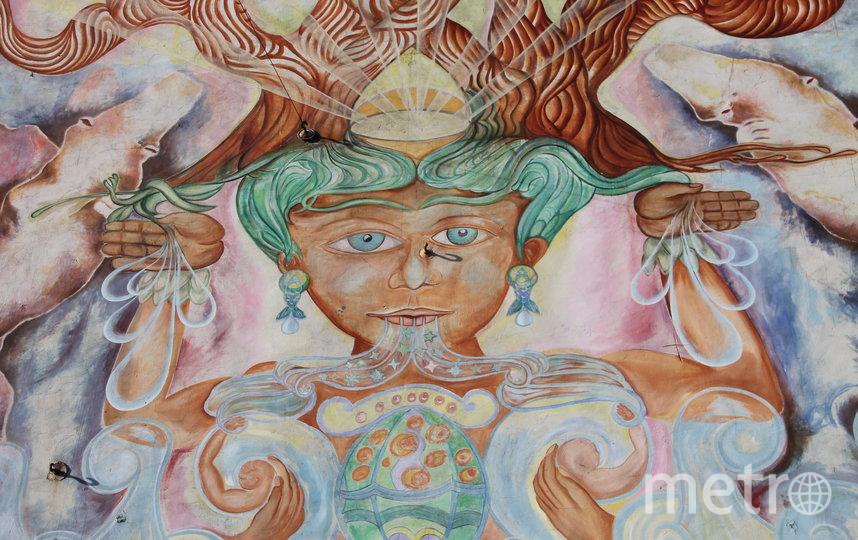 """Мурал """"Вода – это жизнь"""" на брандмауэре дома на Гаванской. Фото КГИОП /kgiop.gov.spb.ru, """"Metro"""""""