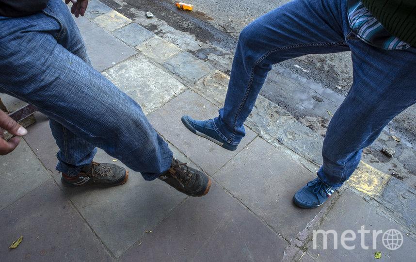 """""""Дай пять!"""" ногой. Фото Getty"""
